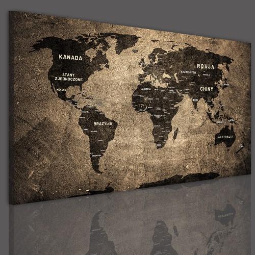 Tablice korkowe z mapą świata 41143 - 1