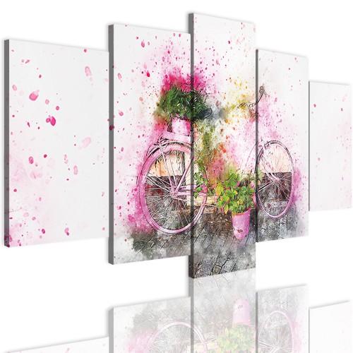 Obrazy 5 częściowe- Obraz, rower, kolory 12361 - 1