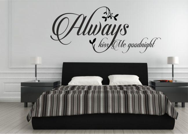 484 Naklejka ścienna z napisem Always kiss Me goodnight - 1