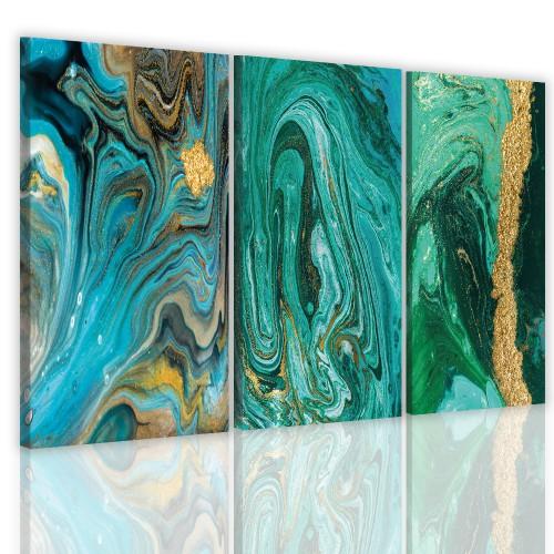 Tryptyk do salonu sypialni 41128 obrazy na  ścianę  złota abstrakcja - 1