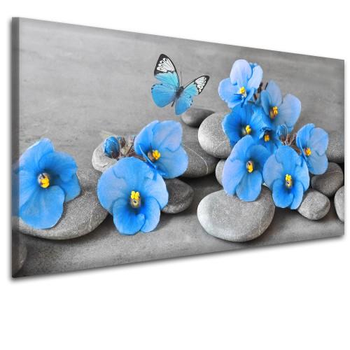 Obraz na ścianę do sypialni salonu niebieski storczyk  41446 - 1