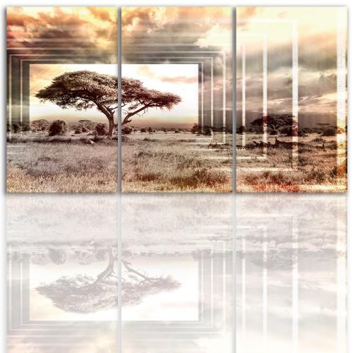 Tryptyk do salonu -  Pejzaż, drzewo, niebo 12208 - 1