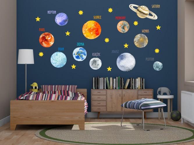 Naklejka ścienna dla dzieci -  układ słoneczny 9522 - 1