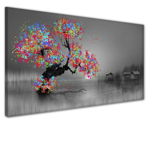 Obraz na ścianę do sypialni salonu ponura jesień  41320 - 1