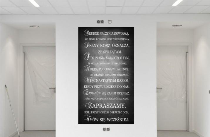 Obraz na ramie płótno canvas cytat- 45 - 1