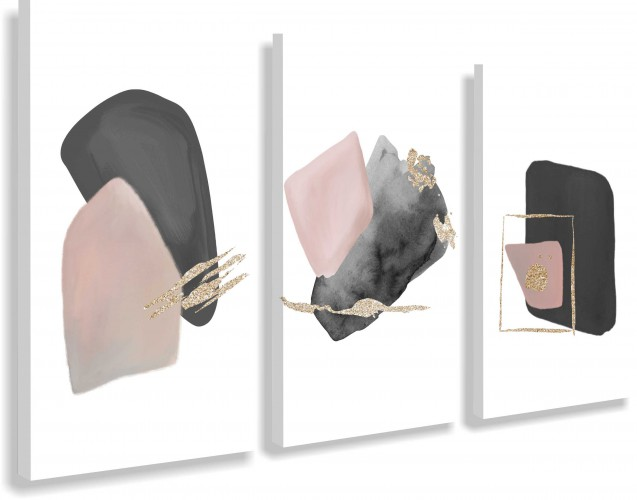 Obrazy na ścianę sypialni, salonu 20217 akwarela, abstrakcja, złoto - 1