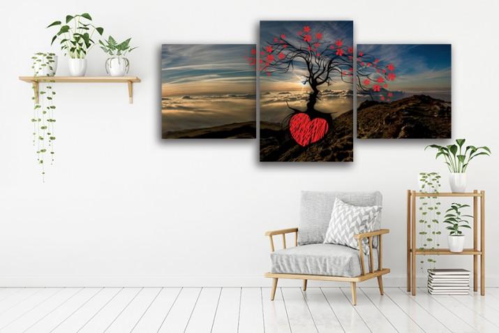 Tryptyk do salonu - Obraz, drzewo, pejzaż 12227 - 1