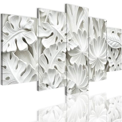 Obrazy 5 częściowe- Białe kwiaty 12394 - 1