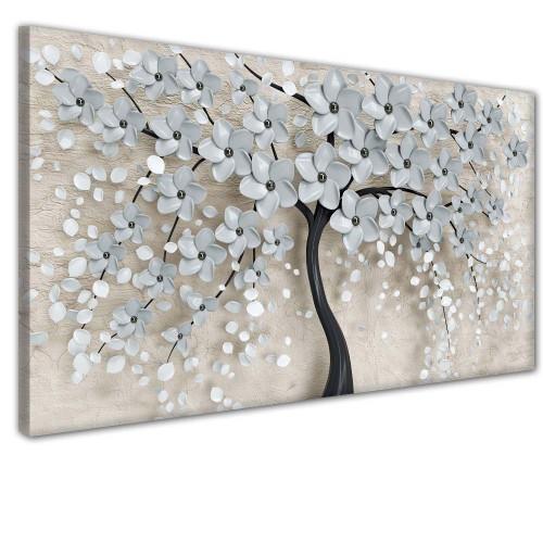 Obraz na ścianę do sypialni salonu drzewo  kwiaty  41386 - 1