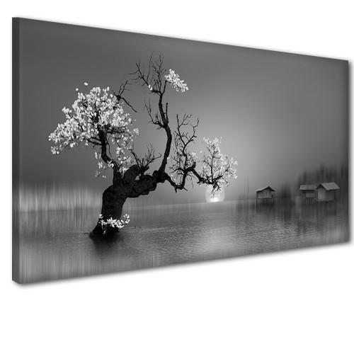 Obraz na ścianę do sypialni salonu drzewo w wodzie  41241 - 1