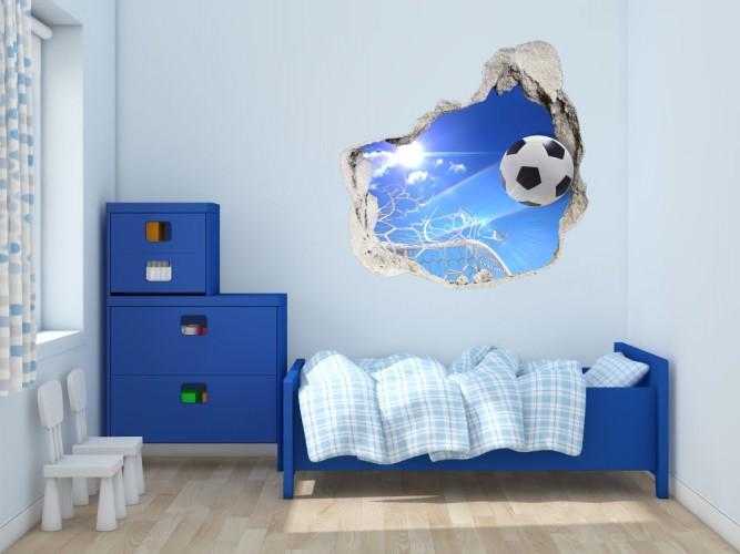 Naklejka na ścianę, dziura 3D piłki 3602 - 1