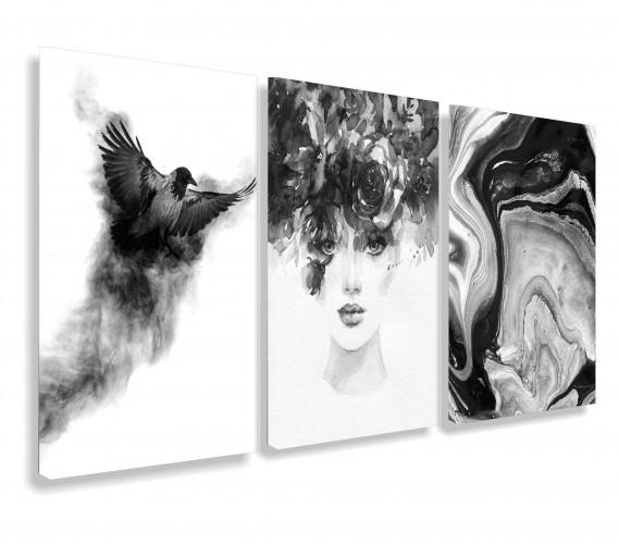 Obraz na ścianę do salonu sypialni twarz kobiety  abstrakcja 20112 - 1