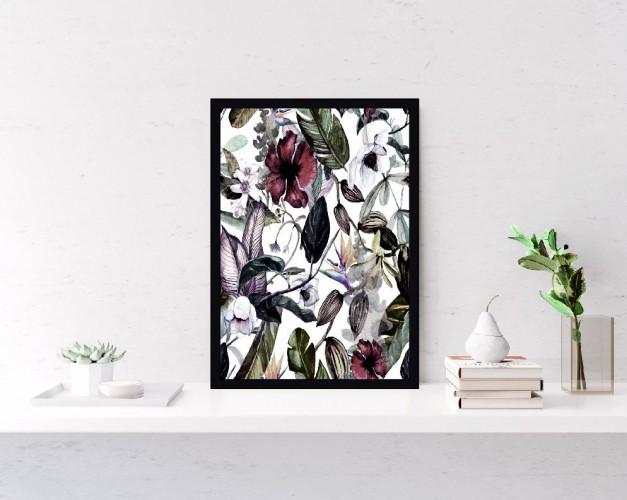 Plakat Wzorzysty Kwiaty, liście 61128 - 1