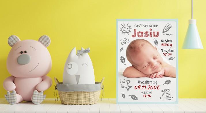 Metryczka dla dzieci prezent narodziny chrzest 69010 - 1