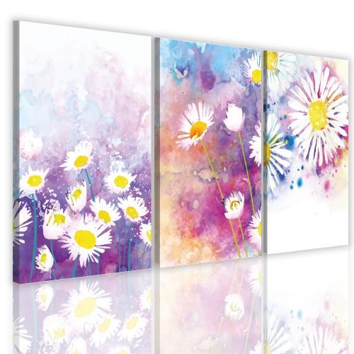 Tryptyk do salonu  41119 obrazy na  ścianę kwiaty - 1