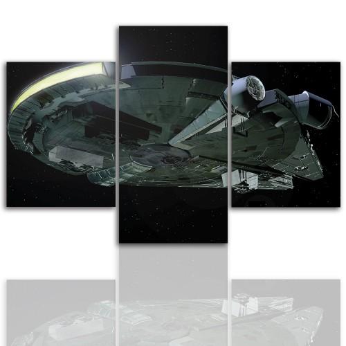Tryptyk do salonu - Obraz, statek kosmiczny 12266 - 1