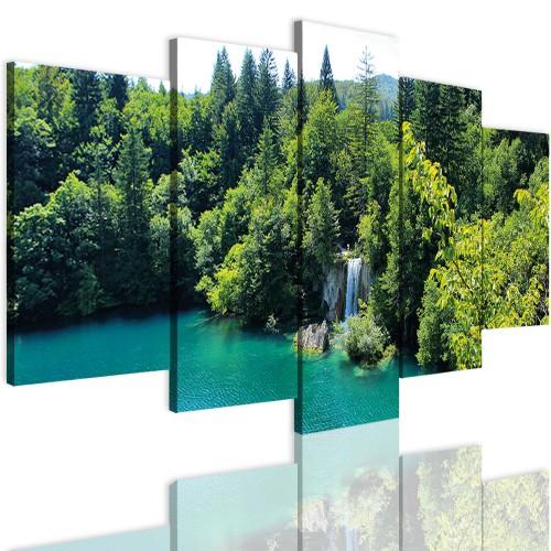 Obrazy 5 częściowe-  Las, widok, pejzaż 12337 - 1