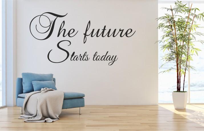 551 Naklejka dekoracyjna na ścianę z napisami The future starts today - 1