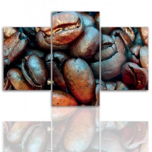 Tryptyk do salonu - Obraz, ziarna kawy 12181 - 1