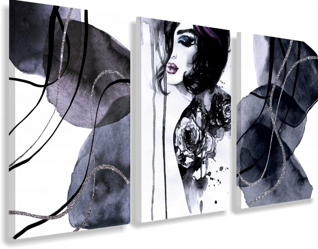 Obrazy na ścianę sypialni, salonu 20218 kobieta w czerni - 1