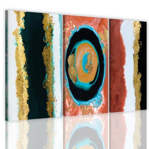 Obraz tryptyk na ścianę ścienny 41130 nowoczesna abstrakcja - 1