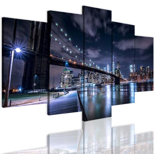 Obrazy 5 częściowe 15114  Miasto, Nowy Jork - 1