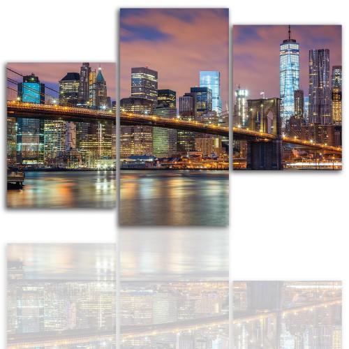 Tryptyk do salonu - Pejzaż, miasto, Nowy Jork 12026 - 1