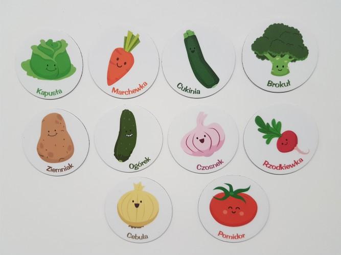 Magnes magnesy na lodówkę warzywa 10szt - 1