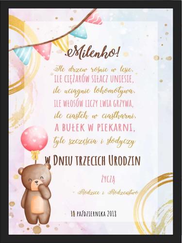 Plakat w ramie na urodzinowy dla dziecka 20509 - 1
