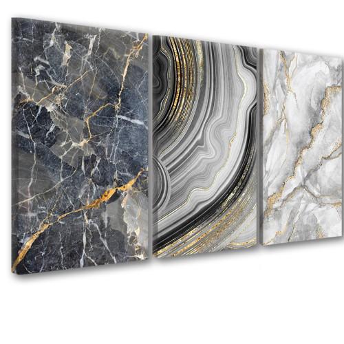 Obraz na ścianę do salonu  sypialni 41257 abstrakcje w złocie - 1