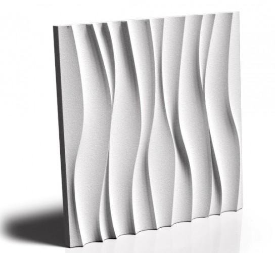 Panel ścienny gipsowy 3D Wave 50x50cm MS - 1