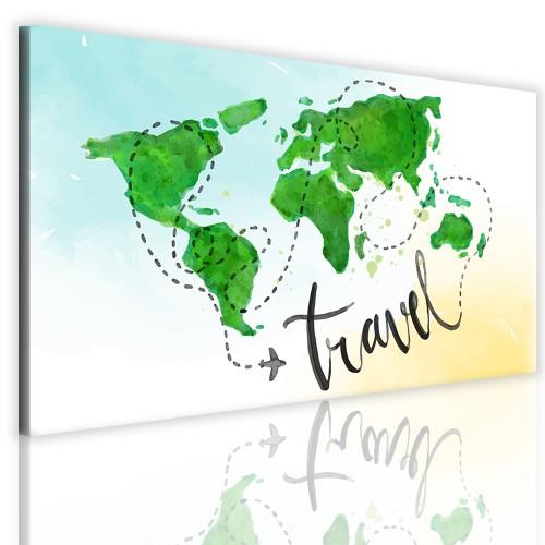 Obrazy na ściane z mapą świata 41102 - 1