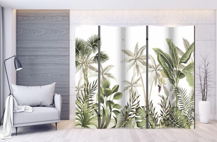 Parawan maskujący parawan dekoracyjny ozdobny 5-częściowy dżungla 314999991 - 1