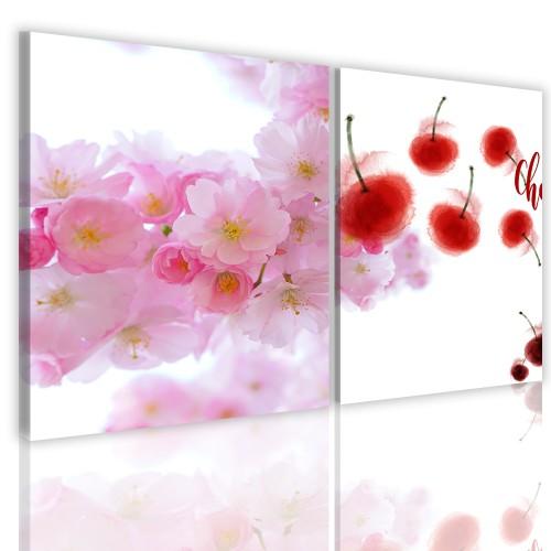 Obrazy na ścianę  dwuczęściowe obraz ścienny 41117 kwiaty - 1