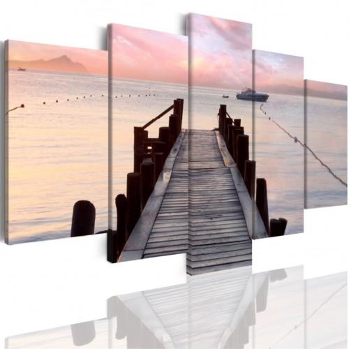 Obrazy 5 częściowe- Pejzaż morze most 508 - 1