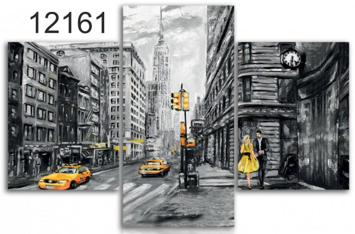 Tryptyk do salonu - Obraz, Nowy Jork 12161 - 1