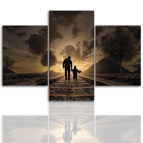 Tryptyk do salonu - Obraz, podróż, spacer, rodzina 12251 - 1