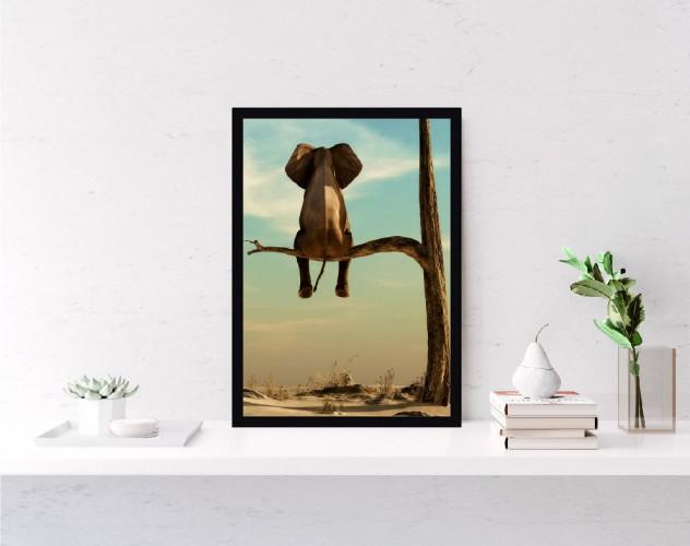 Plakat Słoń na drzewie 61148 - 1