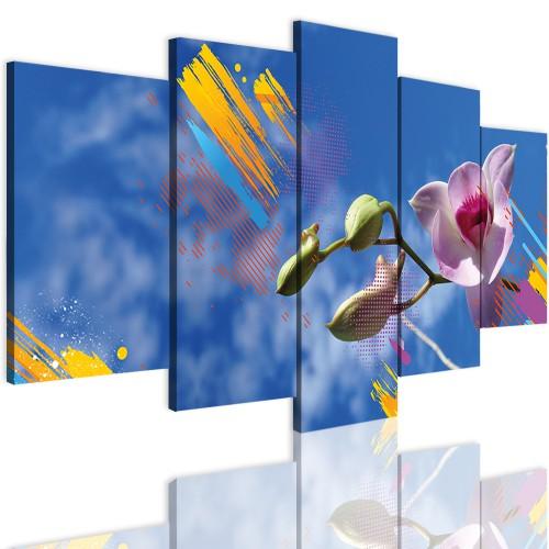 Obrazy 5 częściowe- Kwiaty, storczyki 12308 - 1