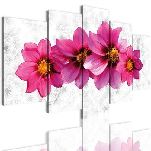 Obrazy 5 częściowe- Kwiaty 12315 - 1