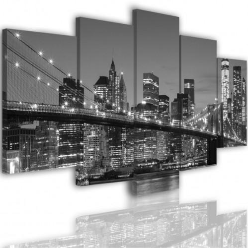 Obraz 5-częściowy-  Miasto Nowy York Most 519 - 1