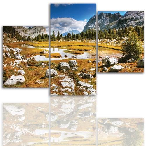Tryptyk do salonu - Pejzaż, góry, skały 12005 - 1
