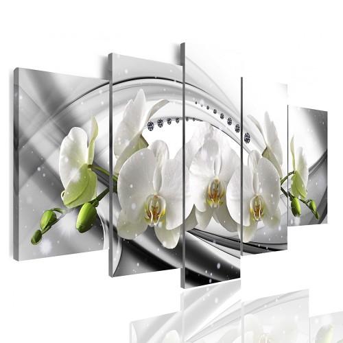 Obrazy 5 częściowe-  Kwiaty, orchidea 12369 - 1