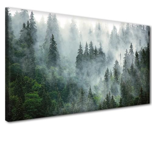 Obraz na ścianę do sypialni salonu las we mgle 41237 - 1