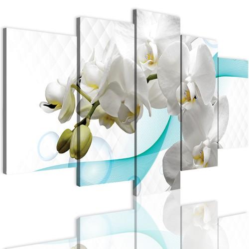 Obrazy 5 częściowe- Storczyk, orchidea, zen 12301 - 1