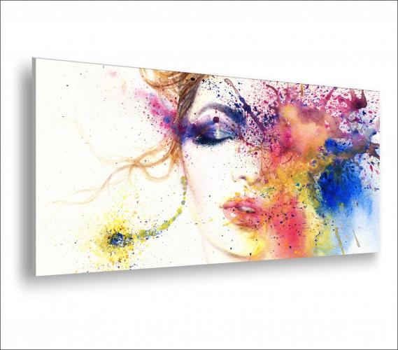 Obraz na ścianę do sypialni salonu akwarela, abstrakcja, kobieta 20137 - 1