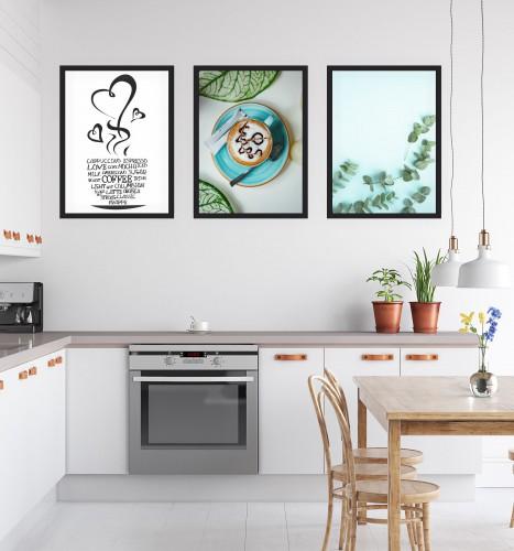 Zestaw trzech plakatów plakaty na ścianę do kuchni KP174 - 1