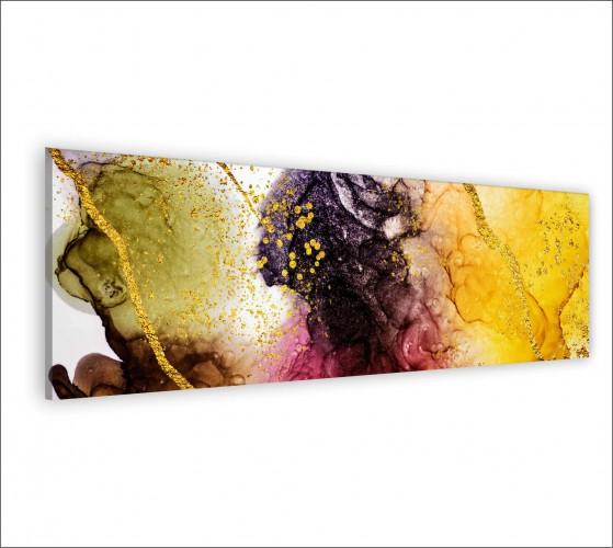 Obraz na ścianę do sypialni salonu akwarela, złota abstrakcja 20142 - 1