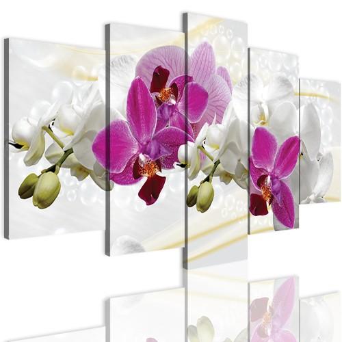 Obrazy 5 częściowe-  Storczyk, orchidea, zen 12300 - 1