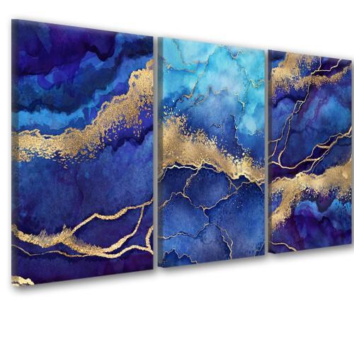 Obraz na ścianę do salonu sypialni 41262  abstrakcja niebieska - 1